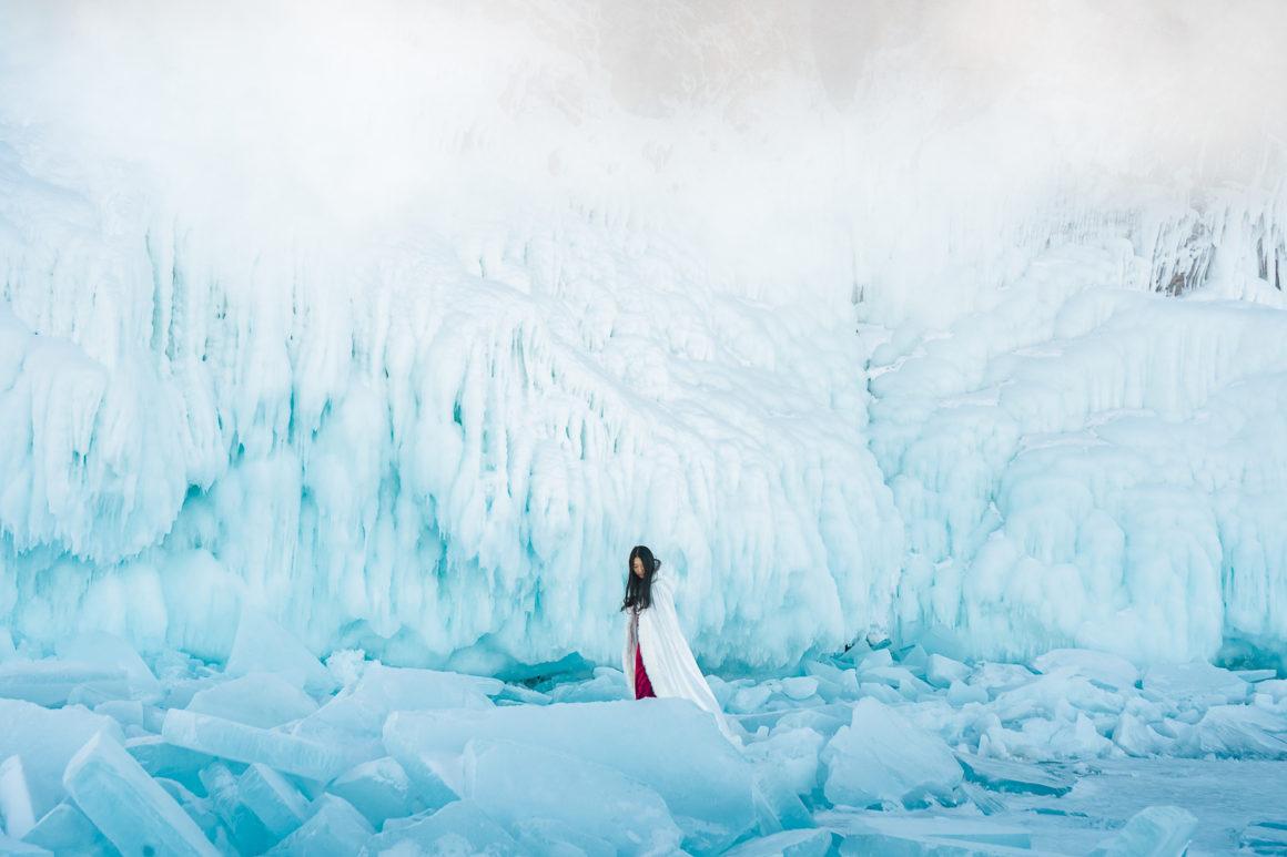 winter frozen lake baikal