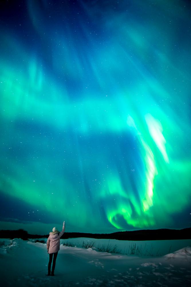 Murmansk northern light aurora